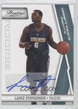 2010-11 Prestige Draft Picks Rights Autographs [Autographed] #198 - Lance Stephenson /199