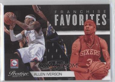 2010-11 Prestige Franchise Favorites Materials [Memorabilia] #4 - Allen Iverson /199