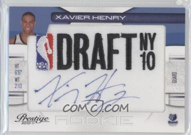 2010-11 Prestige NBA Draft Class Draft Logo Patch Autographs [Autographed] #12 - Xavier Henry /299