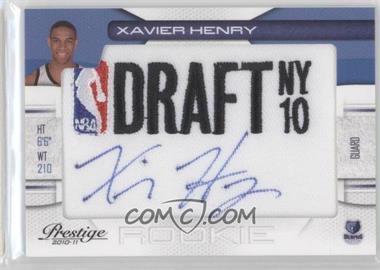 2010-11 Prestige NBA Draft Class Draft Logo Patch Autographs [Autographed] #12 - Xavier Henry /299