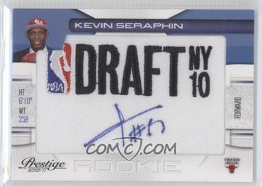 2010-11 Prestige NBA Draft Class Draft Logo Patch Autographs [Autographed] #17 - Kevin Seraphin /399