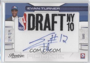 2010-11 Prestige NBA Draft Class Draft Logo Patch Autographs [Autographed] #2 - Evan Turner /199