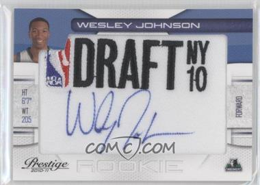 2010-11 Prestige NBA Draft Class Draft Logo Patch Autographs [Autographed] #4 - Wesley Johnson /299
