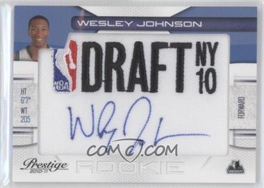 2010-11 Prestige NBA Draft Class Draft Logo Patch Autographs [Autographed] #4 - Wesley Johnson /299