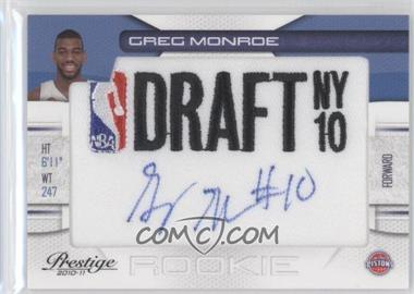 2010-11 Prestige NBA Draft Class Draft Logo Patch Autographs [Autographed] #7 - Greg Monroe /299