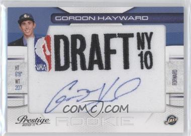 2010-11 Prestige NBA Draft Class Draft Logo Patch Autographs [Autographed] #9 - Gordon Hayward /299