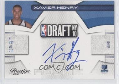 2010-11 Prestige NBA Draft Class Signatures [Autographed] #12 - Xavier Henry /292