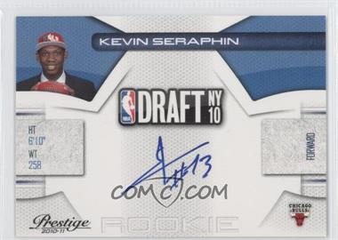 2010-11 Prestige NBA Draft Class Signatures [Autographed] #17 - Kevin Seraphin /299