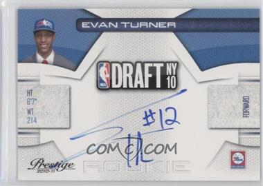 2010-11 Prestige NBA Draft Class Signatures [Autographed] #2 - Evan Turner /299