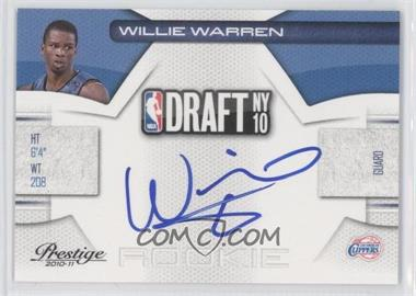 2010-11 Prestige NBA Draft Class Signatures [Autographed] #34 - Willie Warren /292