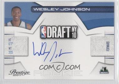 2010-11 Prestige NBA Draft Class Signatures [Autographed] #4 - Wesley Johnson /299