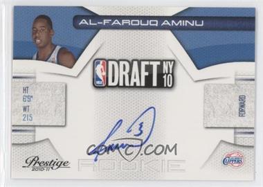 2010-11 Prestige NBA Draft Class Signatures [Autographed] #8 - Al-Farouq Aminu /296
