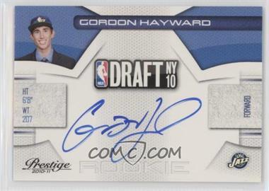 2010-11 Prestige NBA Draft Class Signatures [Autographed] #9 - Gordon Hayward /299
