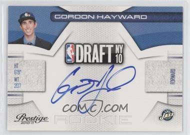 2010-11 Prestige NBA Draft Class Signatures [Autographed] #9 - Gordon Hayward /299