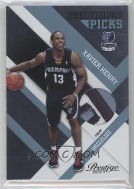 2010-11 Prestige Prestigious Picks Platinum Patches Prime [Memorabilia] #12 - Xavier Henry /10