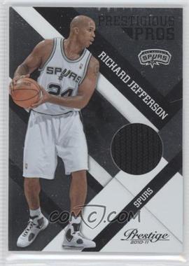 2010-11 Prestige Prestigious Pros Platinum Patches Prime [Memorabilia] #42 - Richard Jefferson /25
