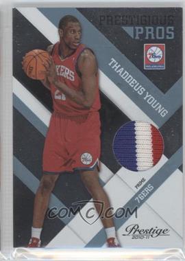 2010-11 Prestige Prestigious Pros Platinum Patches Prime [Memorabilia] #9 - Thaddeus Young /25