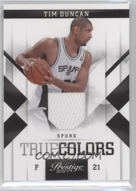 2010-11 Prestige True Colors Materials [Memorabilia] #2 - Tim Duncan /249