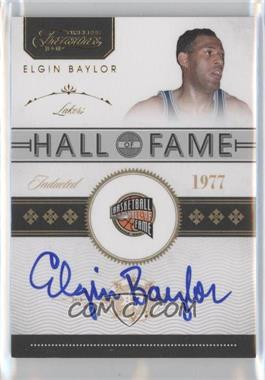 2010-11 Timeless Treasures - Hall of Fame Signatures - Gold #3 - Elgin Baylor /10