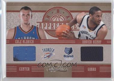 2010-11 Timeless Treasures - NBA Apprentice Materials - Dual #10 - Paul George, Cole Aldrich, Xavier Henry /99
