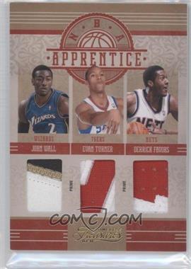 2010-11 Timeless Treasures - NBA Apprentice Materials - Triple Prime #1 - John Wall, Evan Turner, Derrick Favors /10