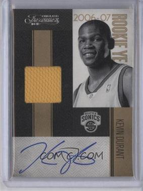 2010-11 Timeless Treasures - Rookie Year Materials - Signatures #13 - Kevin Durant /25