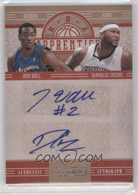 2010-11 Timeless Treasures NBA Apprentice Dual Autographs #2 - John Wall, DeMarcus Cousins /25