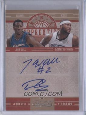 2010-11 Timeless Treasures NBA Apprentice Dual Autographs #2 - John Wall, DeMarcus Cousins /25