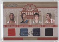 Cole Aldrich, Elliot Williams, Wesley Johnson, Gordon Hayward, Luke Babbitt /99