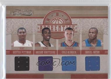2010-11 Timeless Treasures NBA Apprentice Materials Quad #5 - Dexter Pittman, Hassan Whiteside, Cole Aldrich, Daniel Orton /99