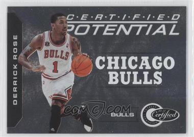 2010-11 Totally Certified Certified Potential #2 - Derrick Rose /249