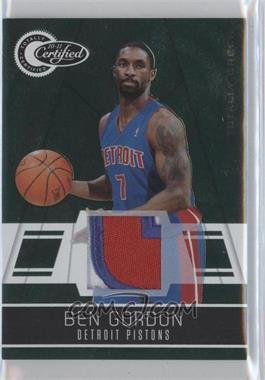 2010-11 Totally Certified Totally Green Materials Prime [Memorabilia] #101 - Ben Gordon /5