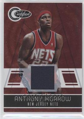 2010-11 Totally Certified Totally Red Materials [Memorabilia] #88 - Anthony Morrow /249