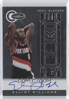 2010-11 Totally Certified #175 - Elliot Williams /599