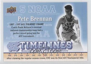 2010-11 UD North Carolina Basketball - [Base] #150 - Pete Brennan