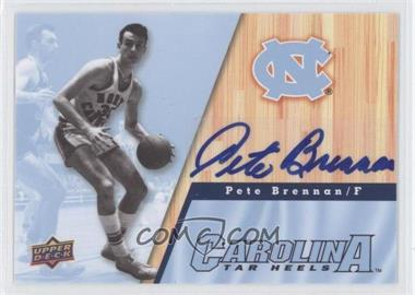 2010-11 UD North Carolina Basketball Autographs [Autographed] #11 - Pete Brennan
