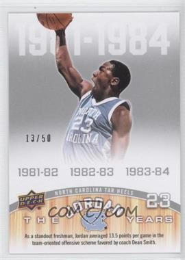 2010-11 UD North Carolina Basketball Blue & Silver #167 - Michael Jordan /50