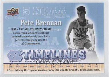2010-11 UD North Carolina Basketball #150 - Pete Brennan