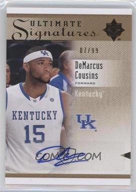 2010 Ultimate Collection - Ultimate Signatures - [Autographed] #S-DC - DeMarcus Cousins /99