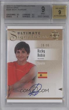 2010 Ultimate Collection - Ultimate Signatures - [Autographed] #S-RR - Ricky Rubio /99 [BGS9]