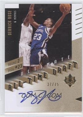 2010 Ultimate Collection Ultimate All-Time Draft [Autographed] #2-23 - Derrick Rose /75