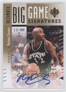 2010 Ultimate Collection Ultimate Big Game Signatures [Autographed] #BG-MC - Mateen Cleaves /75