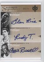 Rudy Tomjanovich, Cazzie Russell, Glen Rice /25