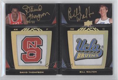 2011-12 Exquisite Collection - UD Black Auto Patch Book Cards #LP2-TW - David Thompson, Bill Walton /50