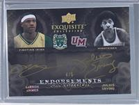 LeBron James, Julius Erving /5