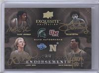 Julius Erving, Larry Bird, Magic Johnson, David Robinson /3