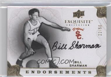 2011-12 Exquisite Collection Endorsements #EE-BS - Bill Sharman /50