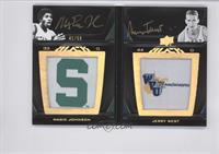 Magic Johnson, Jerry West /50