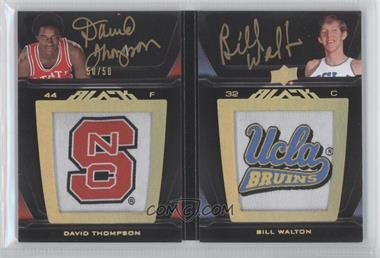 2011-12 Exquisite Collection UD Black Auto Patch Book Cards #LP2-TW - David Thompson, Bill Walton /50