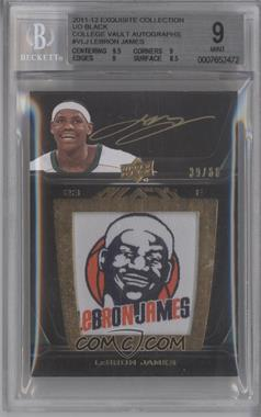 2011-12 Exquisite Collection UD Black College Vault Auto #V-LJ - Lebron James /60 [BGS 9]